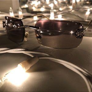 Authentic Chanel Sunglasses w Camellia Flowers